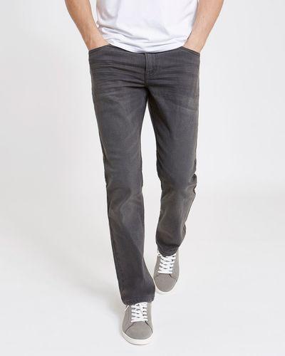 Straight Fit Stretch Denim Jeans thumbnail