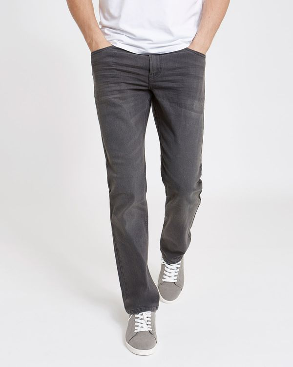 Straight Fit Stretch Denim Jeans