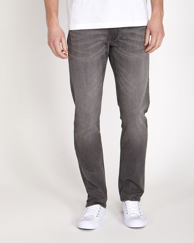 Straight Fit Stretch Denim Jeans