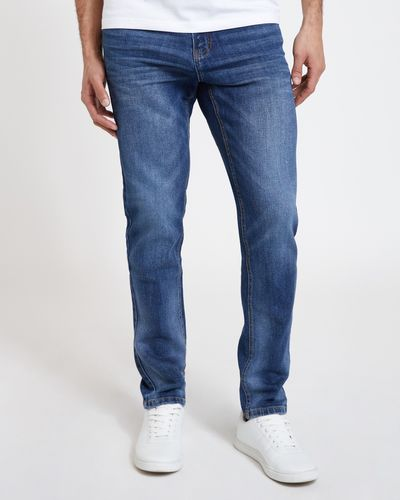 Tapered Fit Vintage Denim Jeans