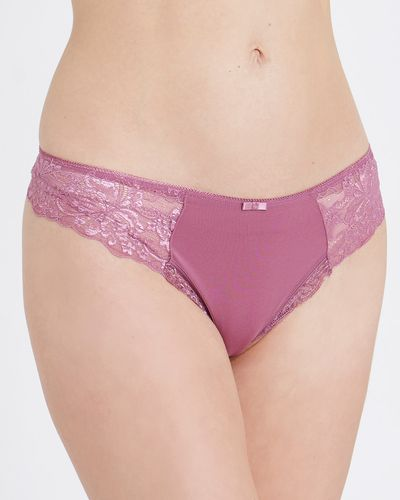 Side Lace Thong - Pack Of 3