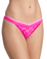 pink Lace Thongs - Pack Of 3