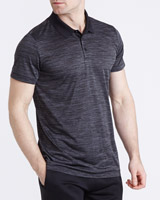 charcoal Regular Fit Sports Space Dye Polo