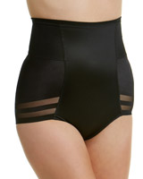 black Firm Control Super Sculpt Waist Cincher Briefs