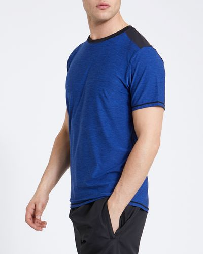 Sports Cut And Sew Colour Block Top
