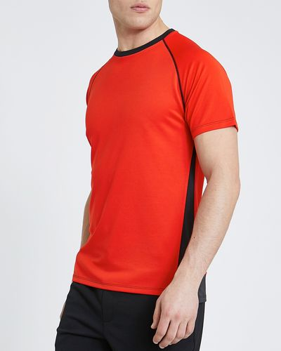 Sports Cut And Sew Colour Block T-Shirt Red