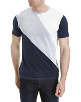 navy Slim Fit Cut And Sew T-Shirt