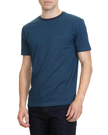 blueSlim Fit All Over Printed T-Shirt