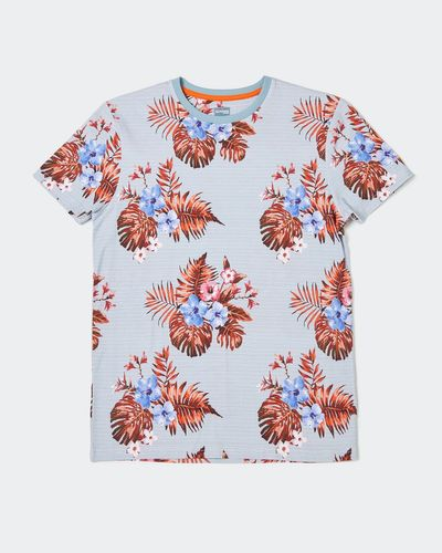 Slim Fit Short-Sleeved Floral T-Shirt