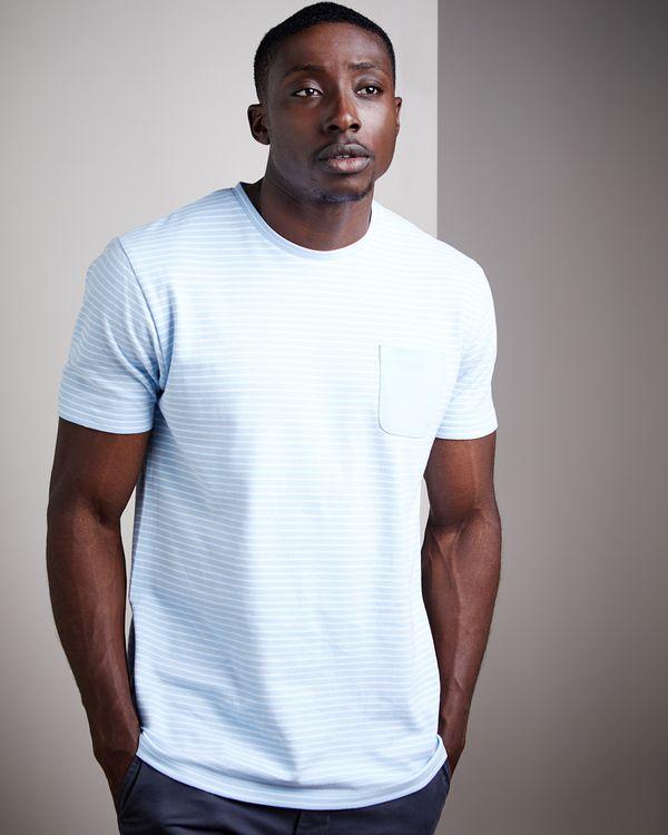 Slim Fit Pique Stripe T-Shirt