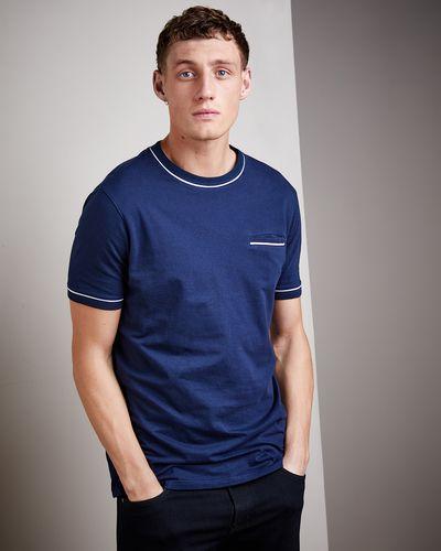 Slim Fit Jacquard Pocket T-Shirt