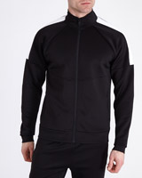 black Tricot Track Top