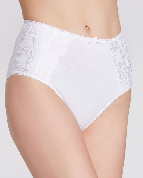 Cotton Side Lace Full Brief