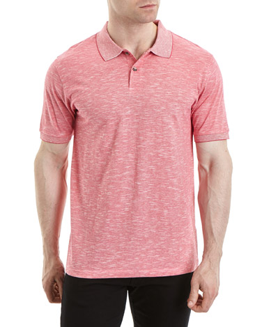 pinkRegular Fit Fine Stripe Polo