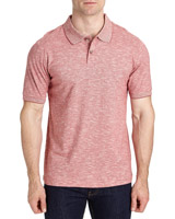 red Regular Fit Fine Stripe Polo