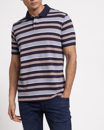 Regular Fit Yarn Dye Pique Stripe Polo thumbnail
