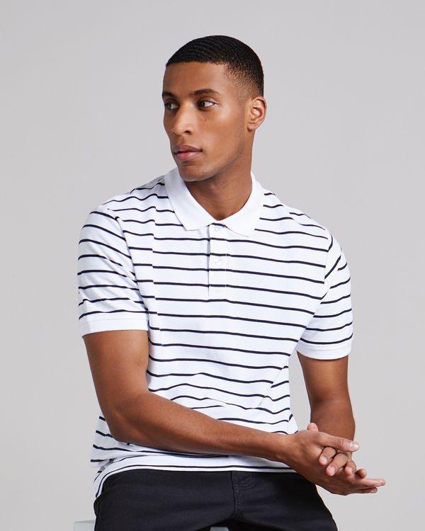 Regular Fit Yarn Dye Pique Stripe Polo