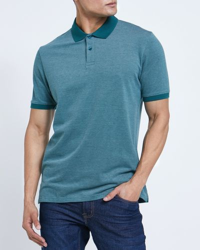 Regular Fit Textured Pique Polo