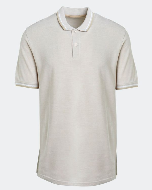 Regular Fit Textured Pique Polo