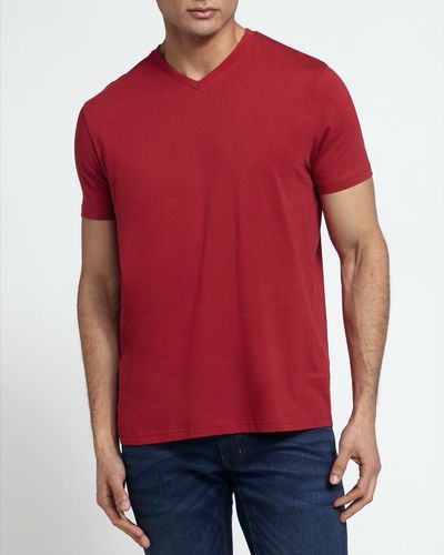 Regular Fit Mens V-Neck T-Shirt thumbnail