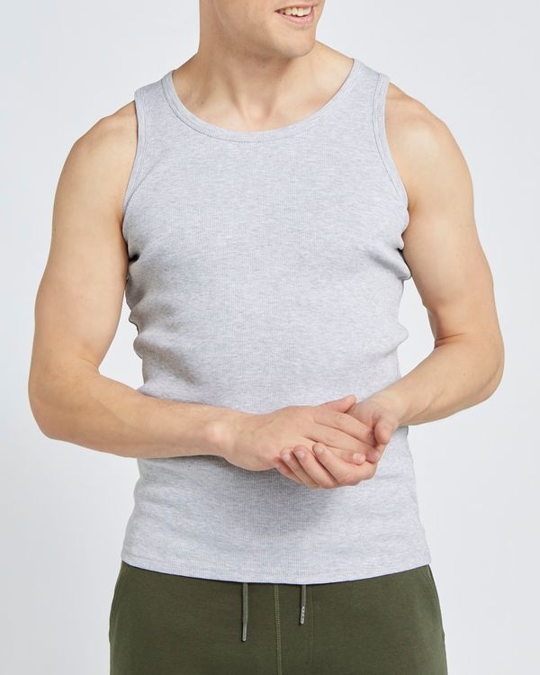 Regular Fit Ribbed Vest