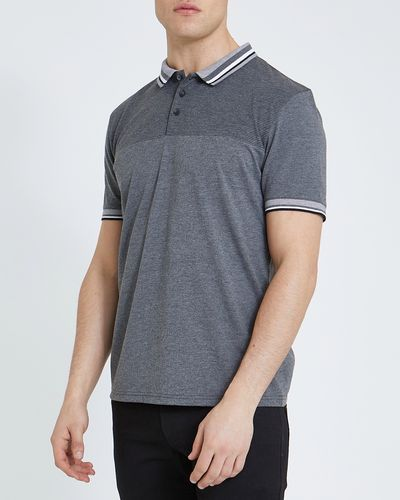 Regular Fit Cut And Sew Fashion Polo Shirt