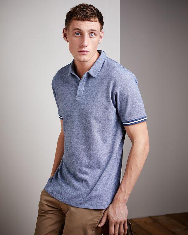 Regular Fit Micro Stripe Polo Shirt