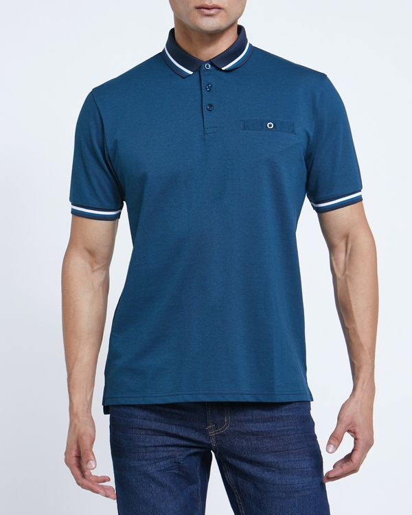 Regular Fit Stripe Collar Polo