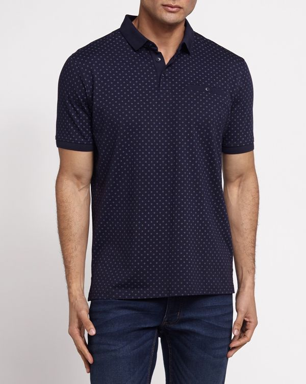Regular Fit All-Over Print Smart Polo