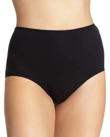 black Plain Full Briefs - Pack of 5