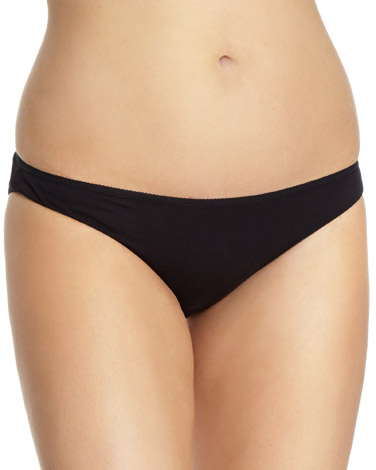 black Plain Mini Briefs - Pack of 5
