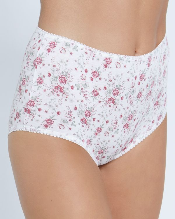 Print Cotton Rich Full Briefs - Pack Of 5