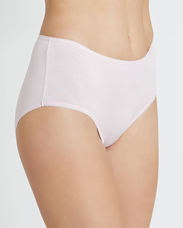 Plain Cotton Rich Midi Briefs - Pack of 5