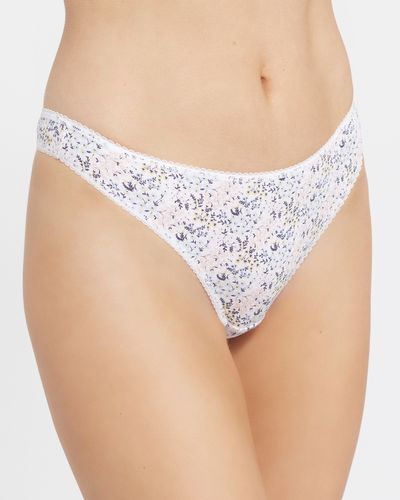 Print Cotton Rich Thongs - Pack of 5 thumbnail