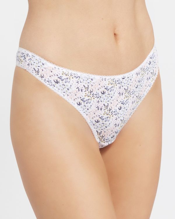 Print Cotton Rich Thongs - Pack of 5
