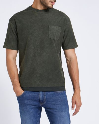 Relaxed Fit Acid Pocket T-Shirt