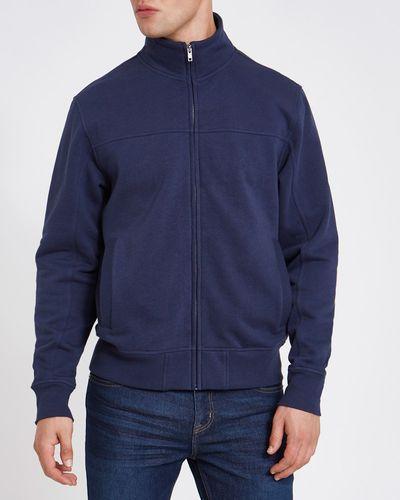 Regular Fit Funnel Zip Through Sweatshirt