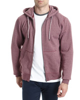 wine-marl Marl Zip Through Hoodie