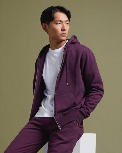 Regular Fit Zip Through Hoodie