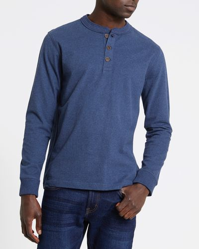 Long-Sleeved Regular Fit Henley Top