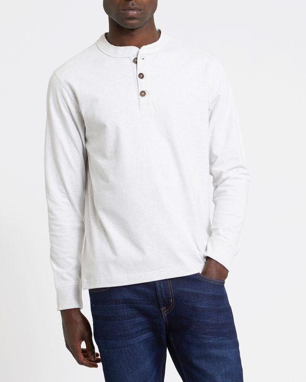 Long-Sleeved Regular Fit Henley Top