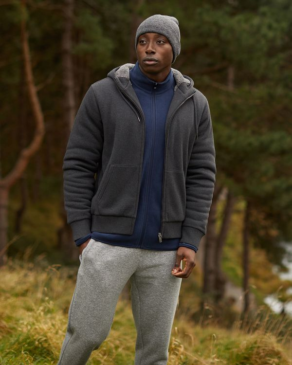 Regular Fit Teddy Lined Sweatshirt