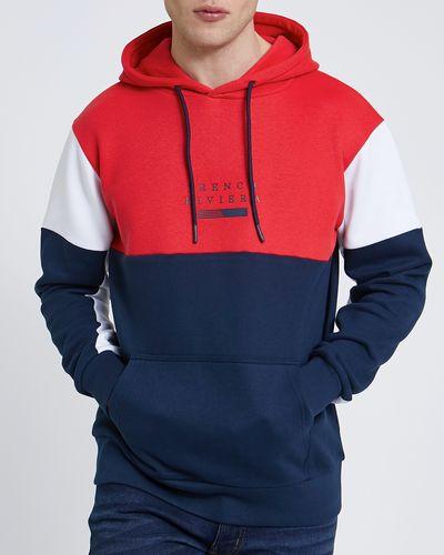 Colour Block Hoodie Navy
