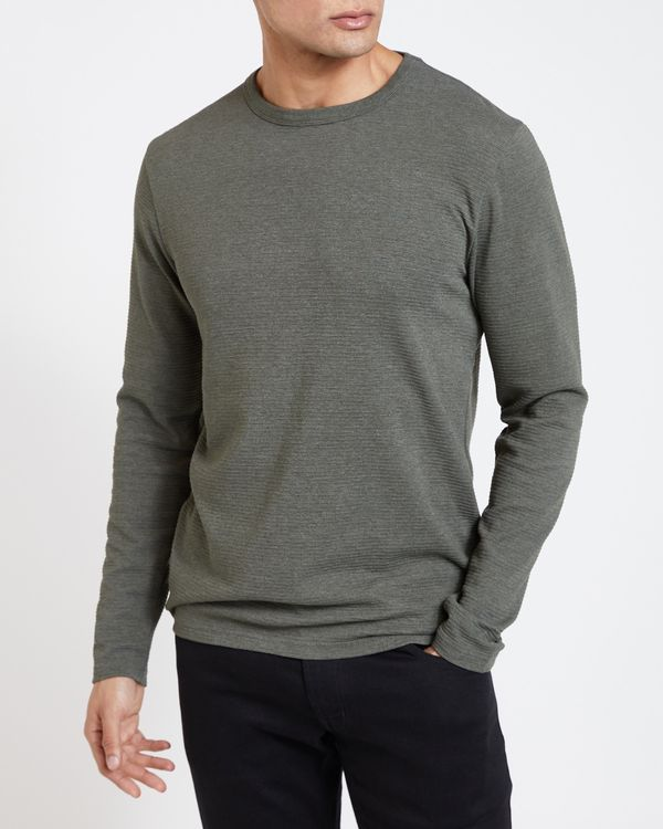 Slim Fit Long-Sleeved Ottoman Top