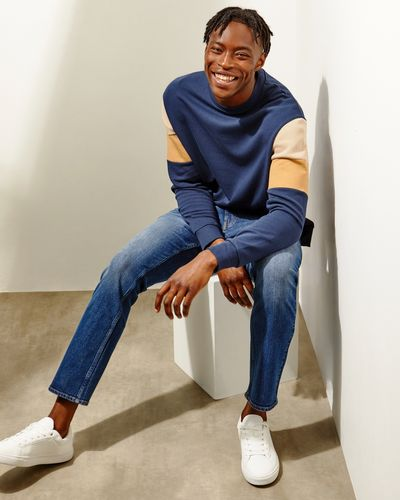 Colour Block Crew Neck Sweatshirt