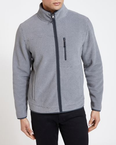 Textured Bonded Fleece Jacket