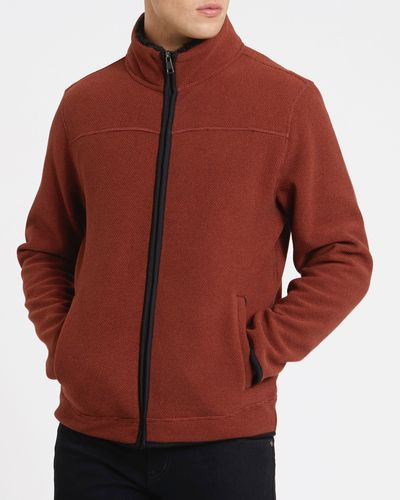Textured Bonded Fleece Jacket
