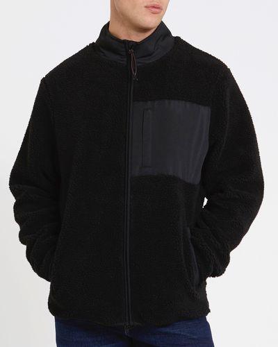 Regular Fit Borg Fleece Jacket
