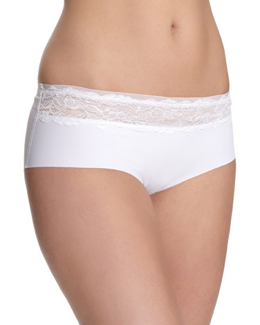 whiteMiracle Lace Top Briefs