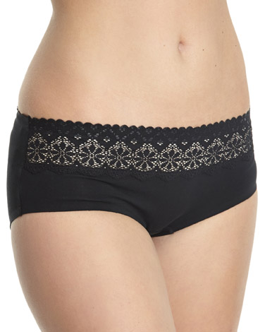 black Miracle Cotton Lace Top Shorts